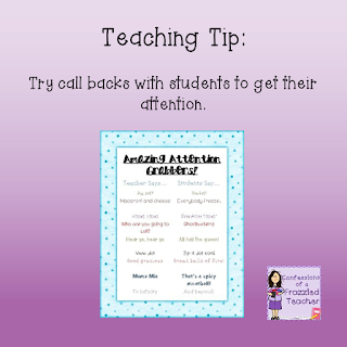 Teaching Tip: Try Call Backs With Your Students