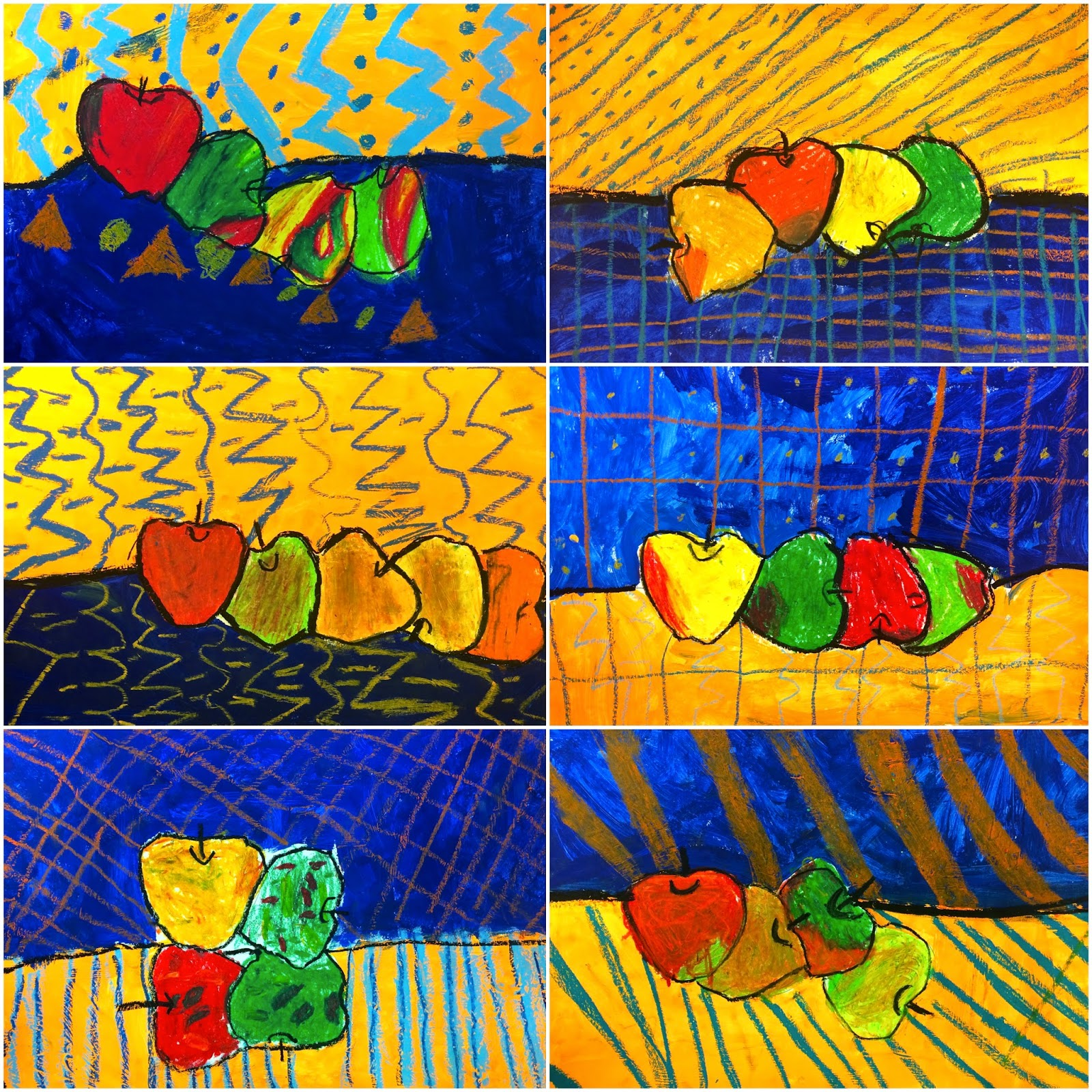 Art Eat Tie Dye Repeat 1st Grade Paul Cezanne Apple Still Life
