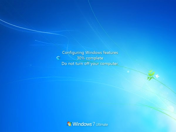 Configuring Windows Features, Don Not Turn Off Your Computer