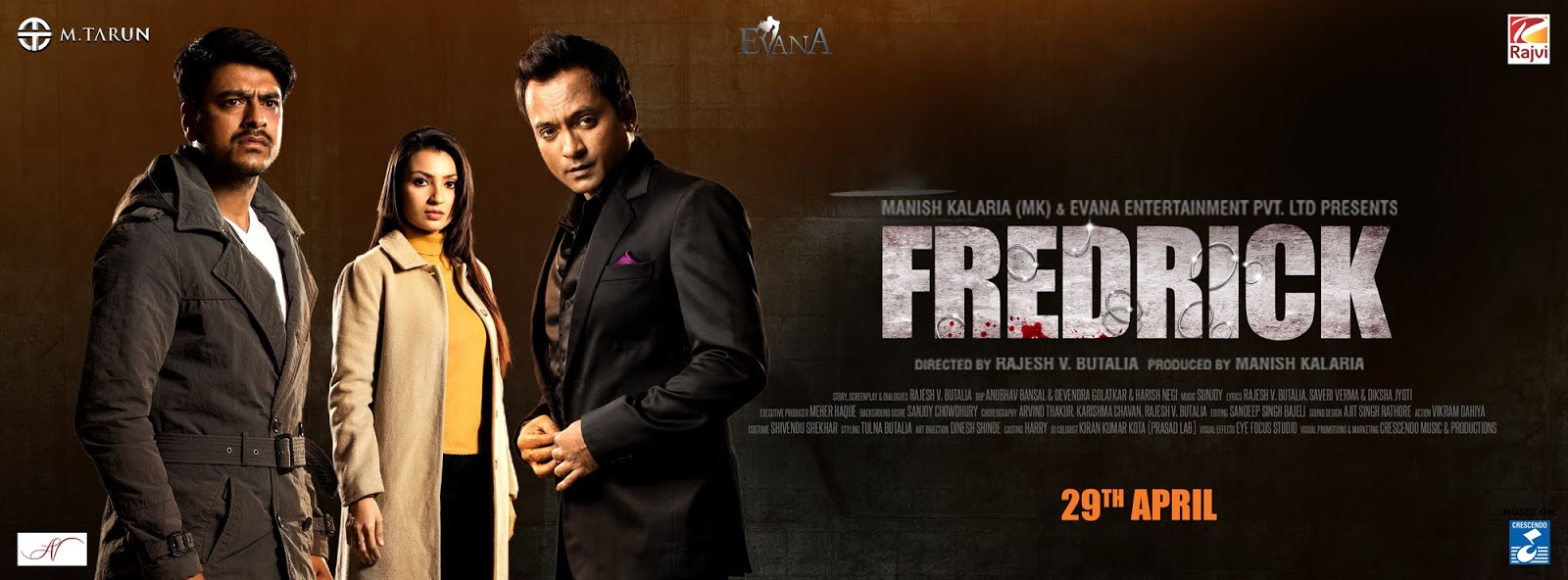 Complete cast and crew of Fredrick  (2016) bollywood hindi movie wiki, poster, Trailer, music list - Prashant Narayanan and Tulna, Movie release date 29 May, 2016