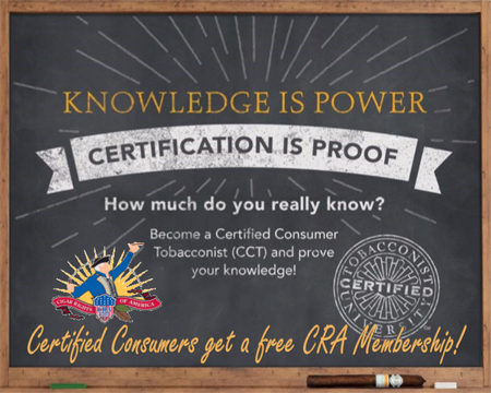 Tobacconist University: The Certified Consumer Tobacconist Evolution
