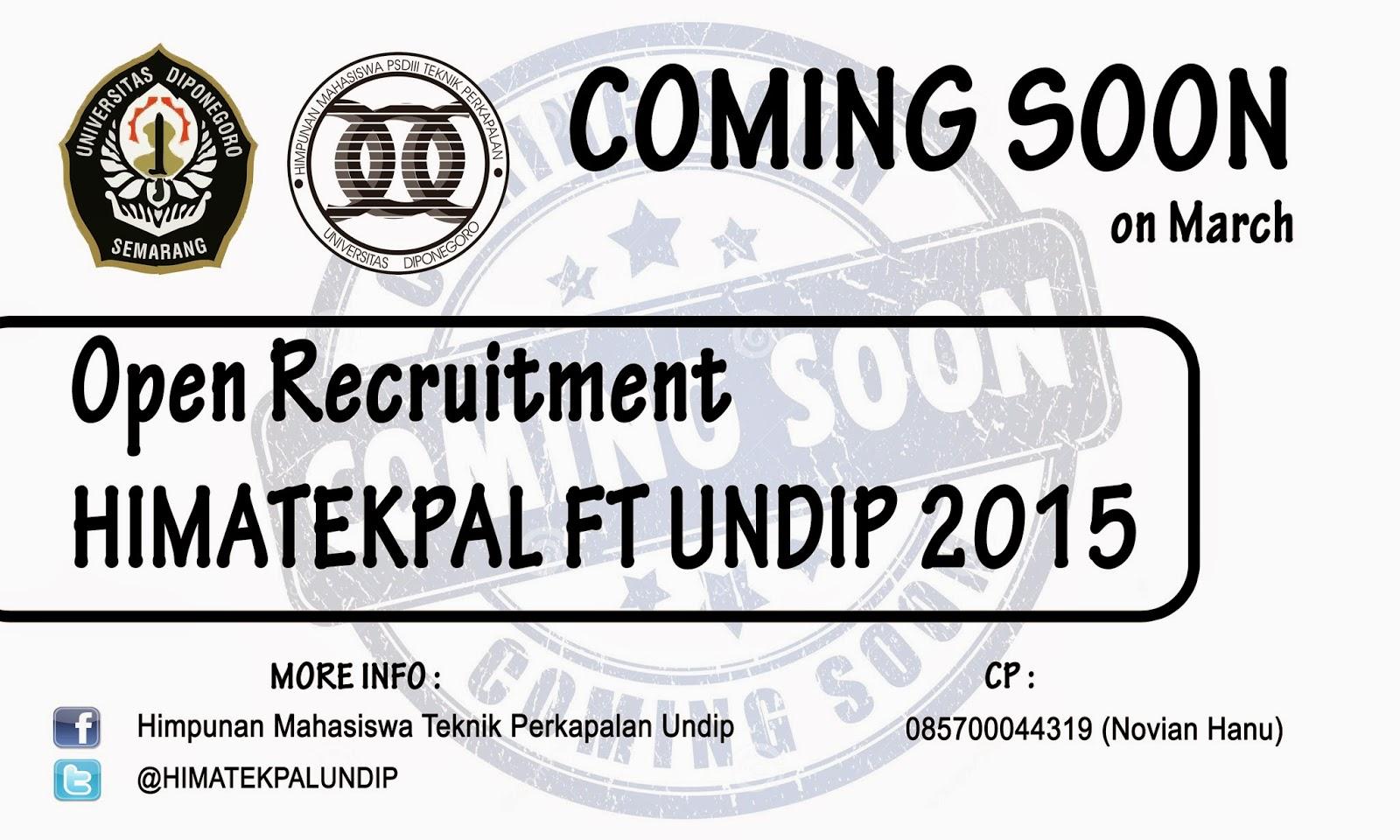 Open Recruitment HIMATEKPAL UNDIP 2015