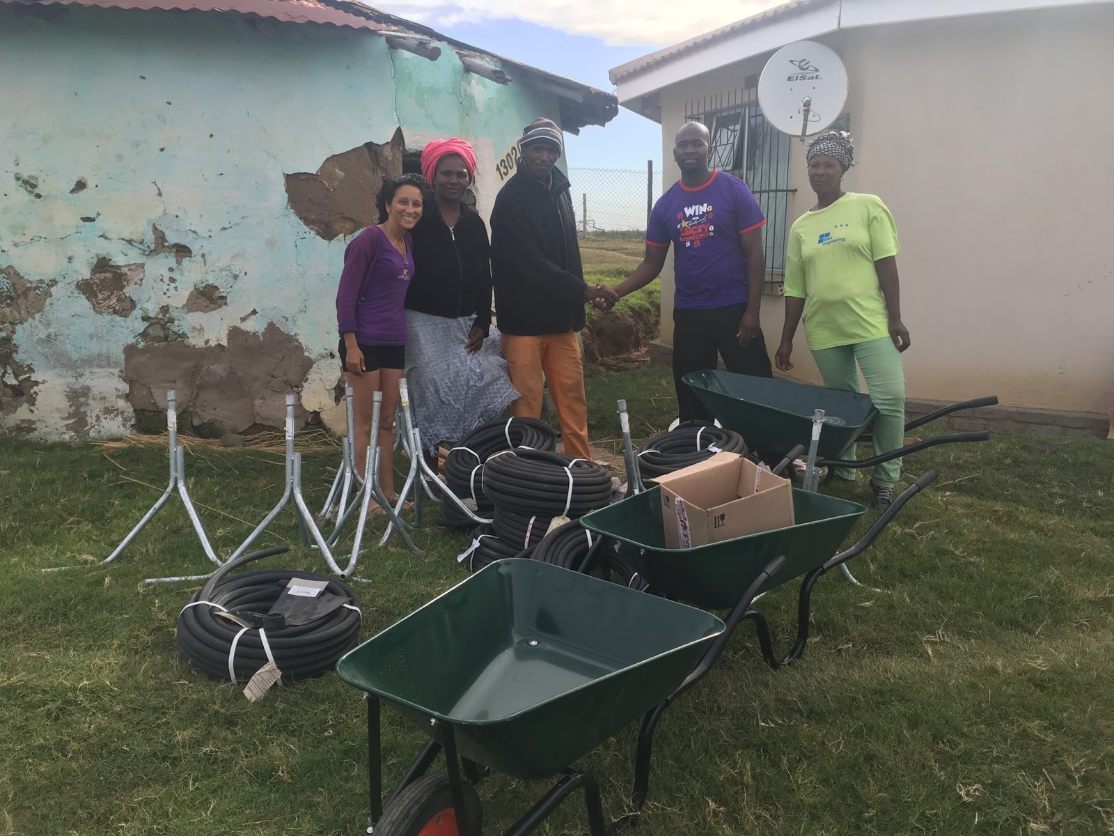 Siyakhana Agricultural Co-operative received a donation of various gardening tools from Hollywoodbets Quigney