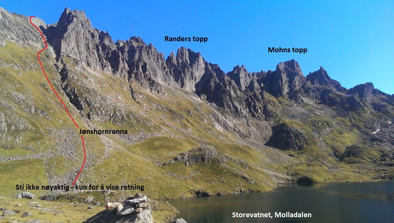 molladalen kart Jønshornet/Ramoen fra Molladalen molladalen kart