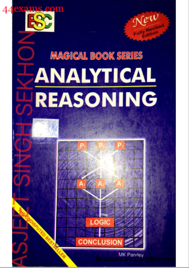Analytical Reasoning M. K. Pandey : For All Competitive Exam PDF Book