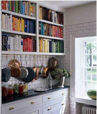 dapur kecil dan unik rak buku