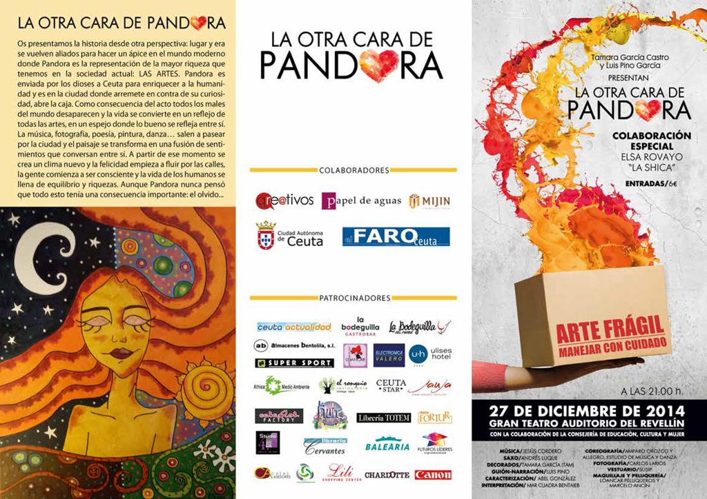 Tríptico de la 'Otra cara de Pandora' - Diseñado por Qreativos