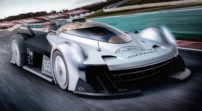 Muscle Car Collection Jaguar Future Racing Car In Le Mans