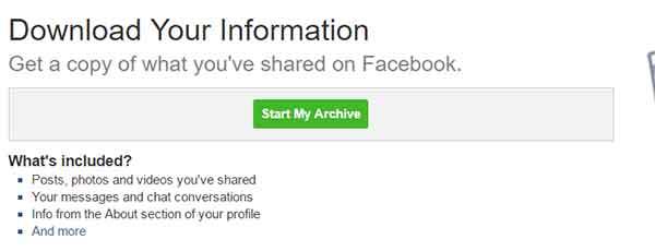 Archive facebook untuk mengetahui email teman