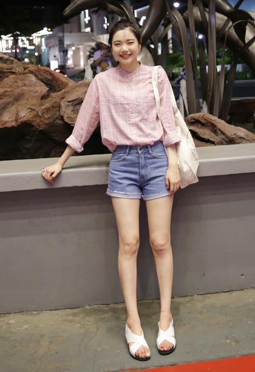 Mid-Rise Folded Cuff Shorts