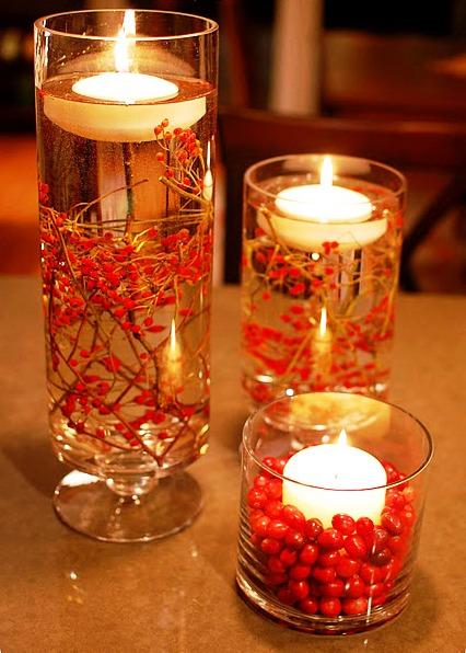 Centros de mesa adornos decorativos con velas para for Adornos decorativos