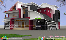 Mixed Roof Kerala House Designs