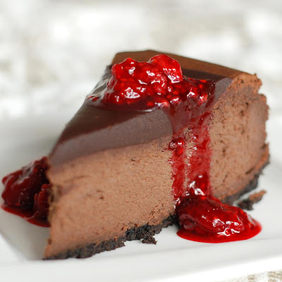 Raw Chocolate Cheesecake Recipe with Berry Topping