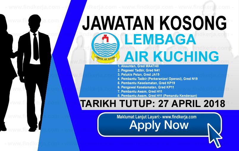 Jawatan Kerja Kosong Lembaga Air Kuching logo www.findkerja.com april 2018