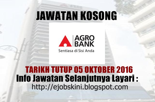 Jawatan Kosong Agrobank Oktober 2016