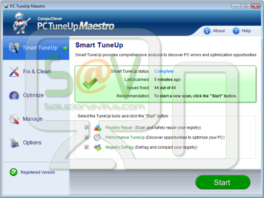 PC TuneUP Maestro - Virus