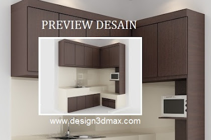 Jasa desain 3d kitchenset via WhatsApp