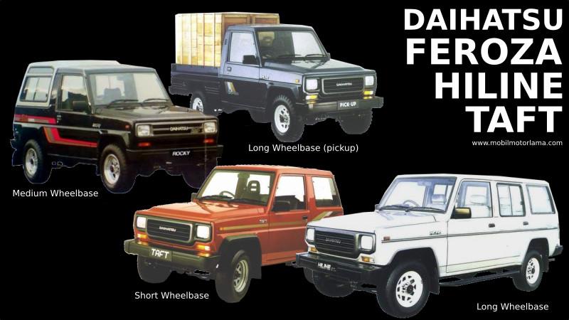 Jenis Dan Perbedaan Daihatsu Taft Hiline Dan Feroza Mobil Motor Lama