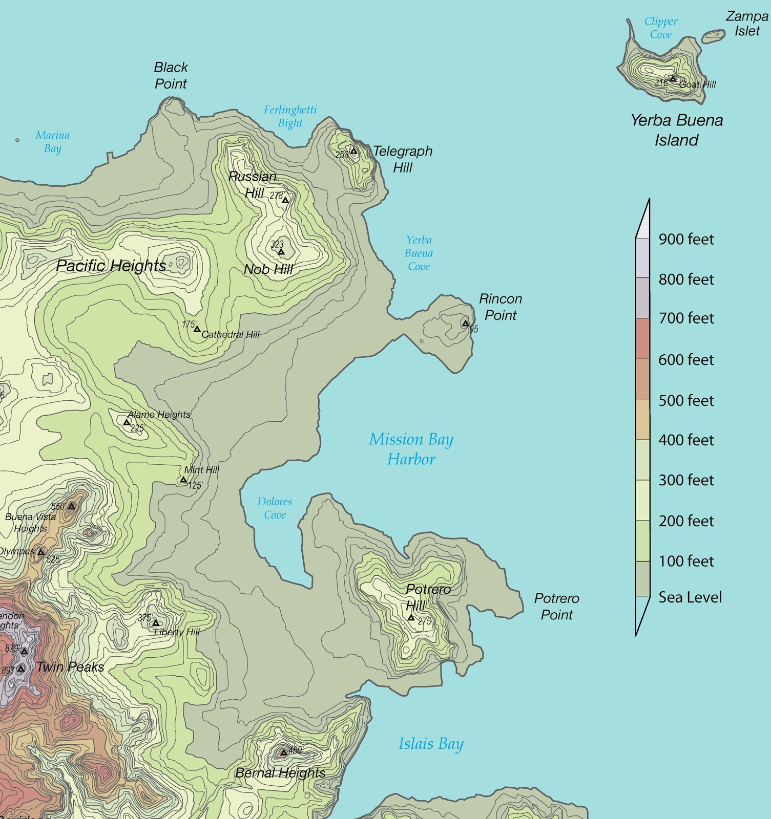 25 feet sea level rise map san francisco publicscrutiny Images