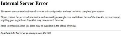 Linux Windows Hosting 500 - 501 Internal Server Error Hataları