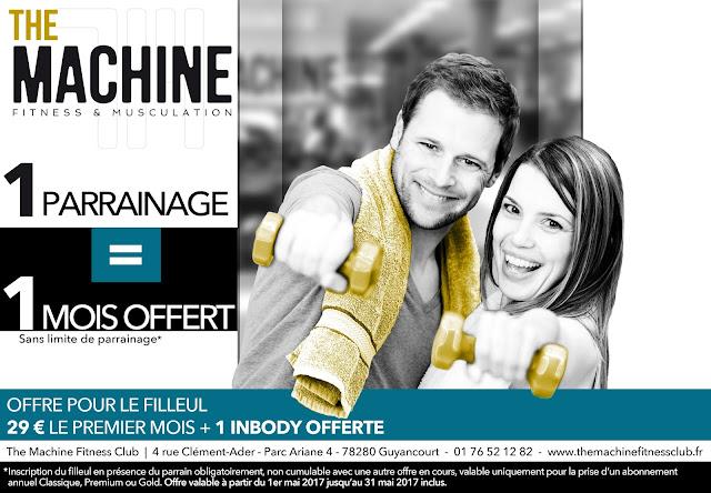 Offre parrainage club Fitness Guyancourt Parc Ariane