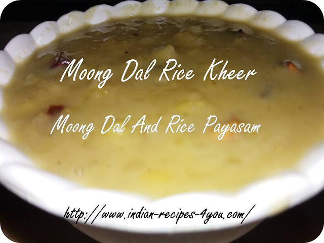 How to Make Moong Dal and Rice Kheer by aju