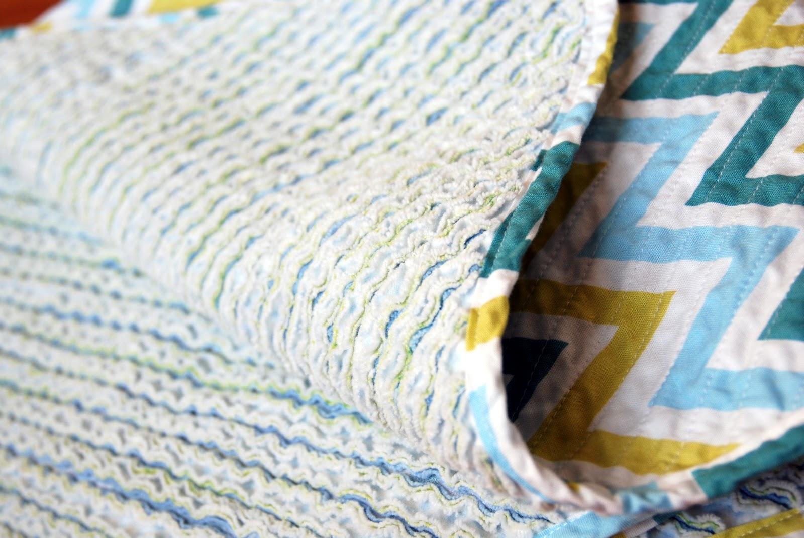 The Diaper Bag Wrangler Hand Cut Chenille Baby Blanket