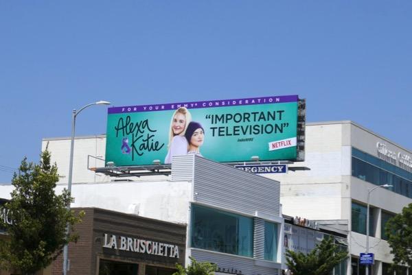 Alexa Katie 2018 Emmy FYC billboard