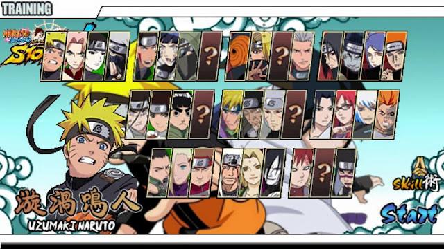 Naruto Senki MOD Allakadarnya Full Characters Versi Full Game Naruto Android Terbaru