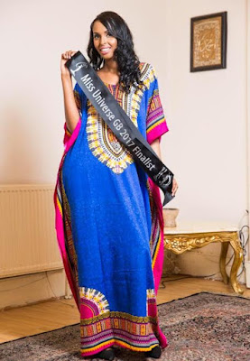 Muslim Miss Universe GB finalist will become the first to wear a Kaftan in the swimsuit contest
