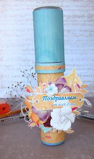 подарок,день учителя,оригинальный,пенал,упаковка,скрап,цветы,самодельные,бумага,тег,надпись