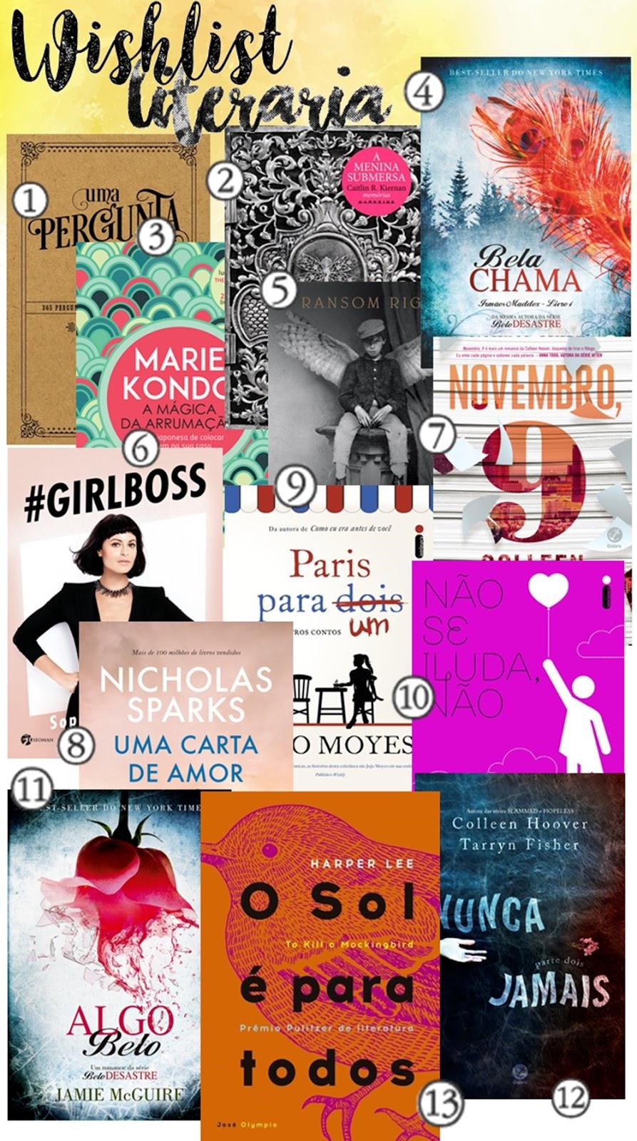 WISHLIST LITERÁRIA | SERÁ QUE ESSE ANO TEM LIVRO NOVO?! | BLOG CONFIDENT