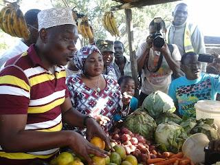 Mishi Mboko with Rashid Benzimba in Kisauni. PHOTO | Courtesy