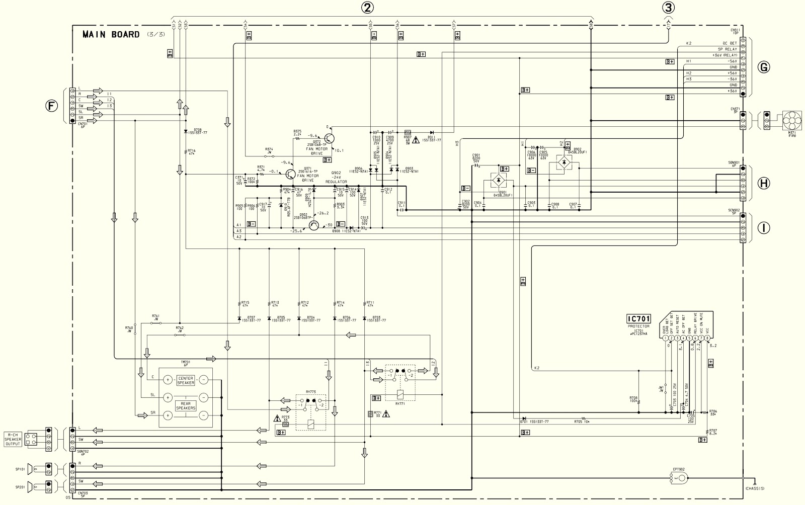 hight resolution of  sony sava 500 test mode schematic diagram home theater speaker home speaker wiring diagram
