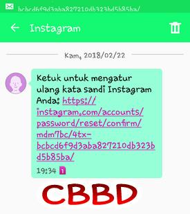 lupa kata sandi dan email pada instagram