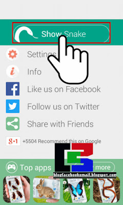 Cara agar layar android bisa keluar gambar ular