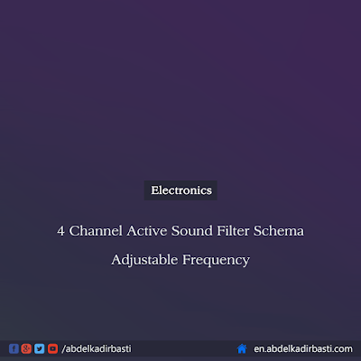 4 Channel Active Sound Filter Schema Adjustable Frequency