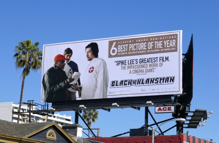 BlacKkKlansman Oscar nominee billboard