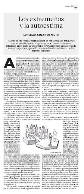 Los extremeños y la autoestima. HOY, 12/09/2017 Tren AVE