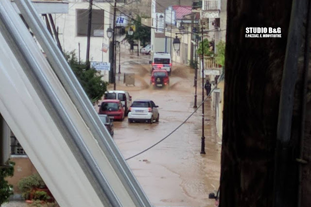 Πολύ δύσκολη η κατάσταση στο Άργος - Εκτεταμένες πλημμύρες στην πόλη - Έσπασε το ποτάμι και στον Μαλαχιά