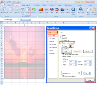 background in cell Excel