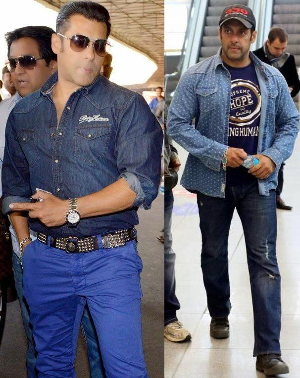 Salman khan looks dashing at airport, men's air travel fashion