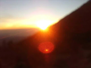 In the morning is able to see sunrising at the top of ijen volcano