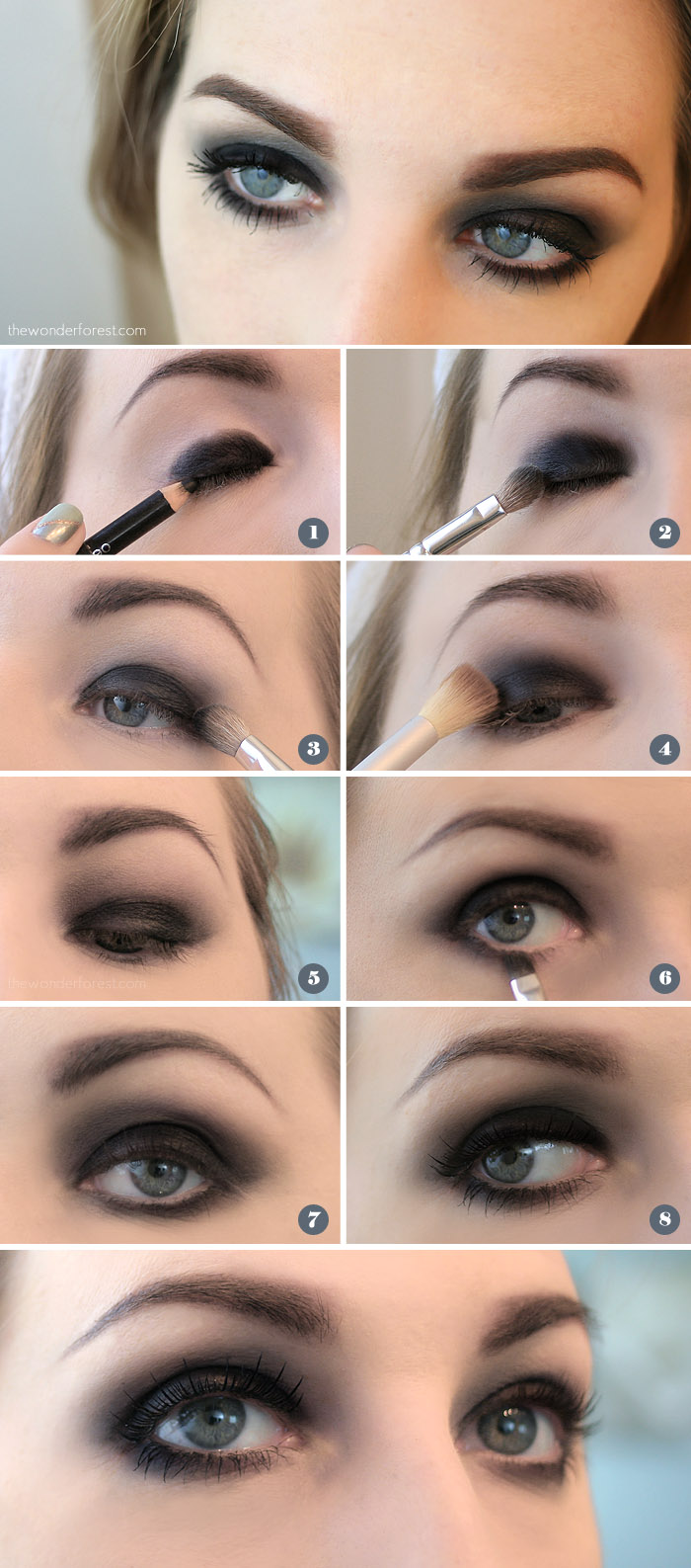 Easy Makeup Tutorial And Style For Android: Easy Black Smokey Eye Tutorial
