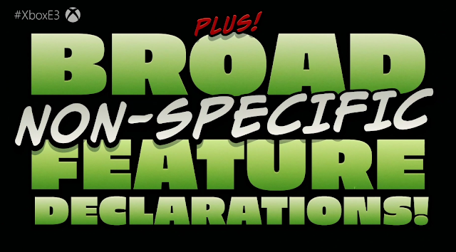Battletoads on Xbox One with broad non-specific feature declarations