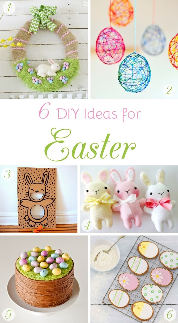 6 DIY Easter Ideas shared on hazelfishercreations