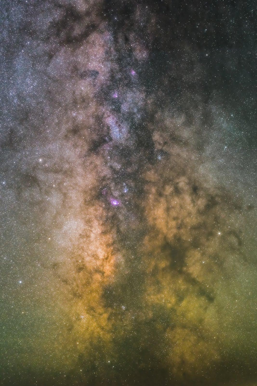 خلفية الوان النجوم - خلفيات فضاء ايفون