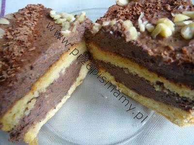 Ciasto z kremem makowo czekoladowym