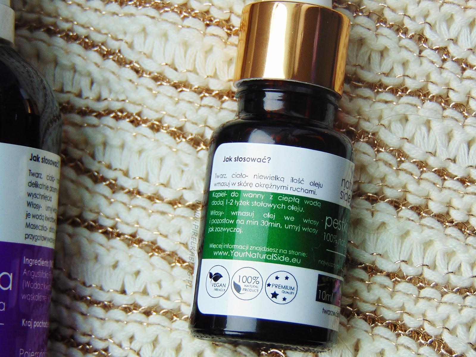 100% naturalny olej z pestki śliwki, Your Natural Side