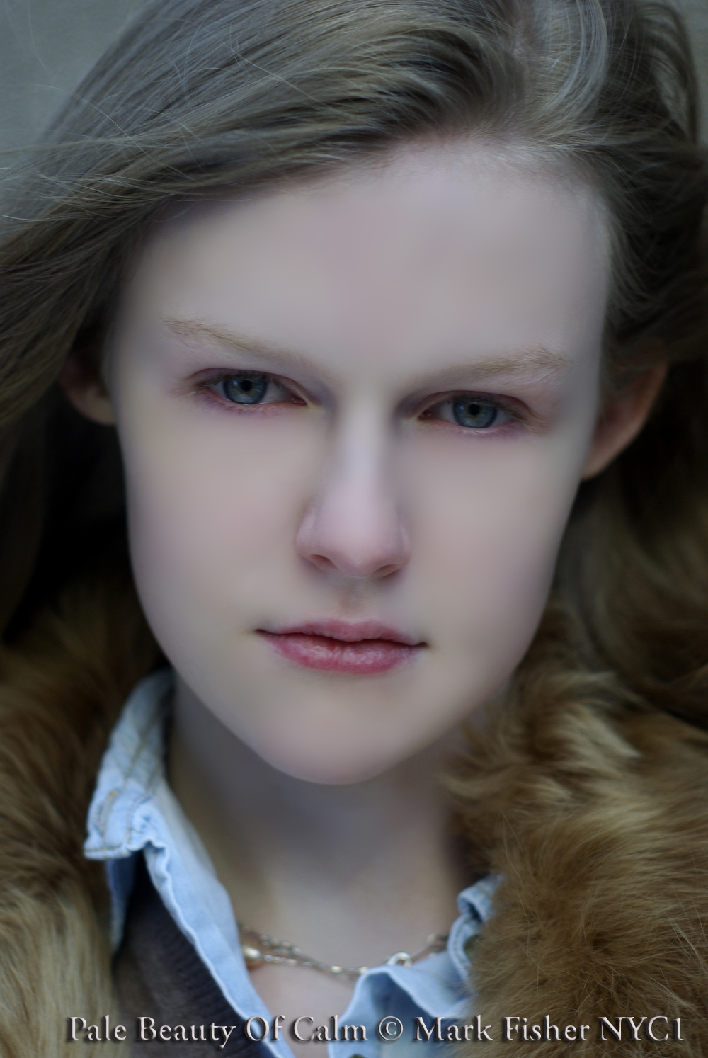 Pale Beauty Portrait Of Blond Woman Stock Image: Mark Fisher American Photographer™: Pale Calm Beauty